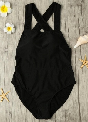 Sexy Backless Cross Strap Padded One Piece Swimsuits UK_3