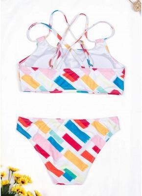 Womens Print Bikini Set Spaghetti Strap Push Up Padded Swimsuit Bathing Suit Swimsuit_3