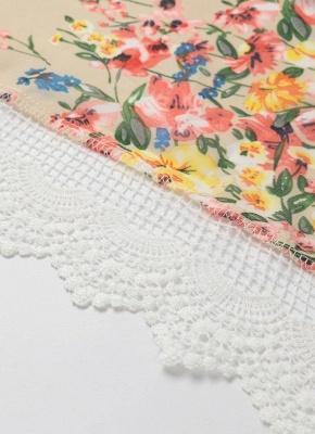 Retro Floral Lace Hem Bohemian Chiffon Kimono_7