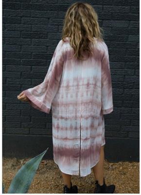 Women Chiffon Kimono Cardigan Beach Cover Up_1