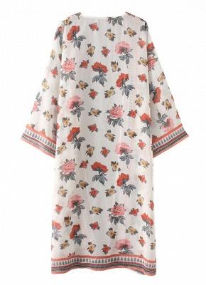 Womens Chiffon Kimono Cardigan Bikini Cover Ups Printed Boho Long Swimwear_6