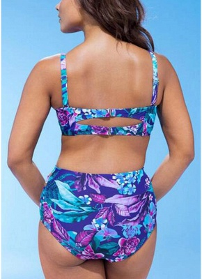 Floral Print Two Piece Swimsuit_3