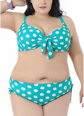 Plus Size Polka Dot Knot Bikini Set_5