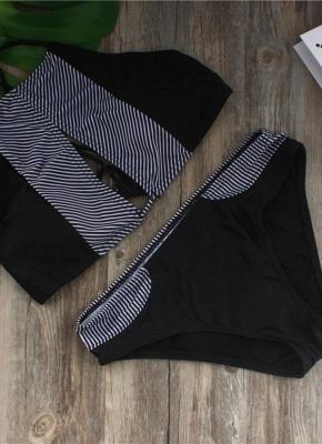 Halter Sexy Open Back Padded Push Up Bikini Swimsuit_3
