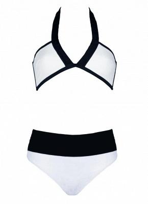 Hot Women Bikini Set UK Color Splice Wireless Bathing Suit UK Bathing Suit UKs Tank Top_5