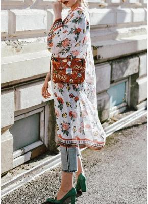 Womens Chiffon Kimono Cardigan Bikini Cover Ups Printed Boho Long Swimwear_4