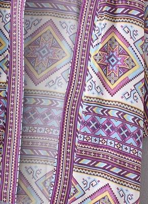 Bohemian Fashion Chiffon Geometric Print Loose Women's Kimono_8