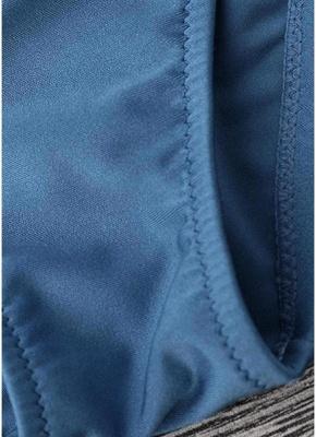 Solid Color Halter Bodycon Tie Bikini Set UK_7