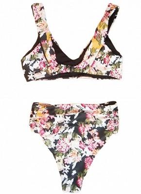 Women Floral Bikini Set UK V-Neck Sleeveless Padding Print Bathing Beach Swimsuits UK Bathing Suit UK_4