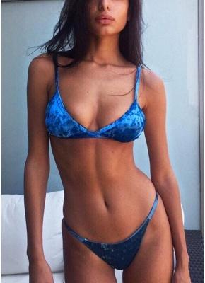 Hot Women Wire Free Padding Low Waist Thong Biquini Bikini Set UK_3