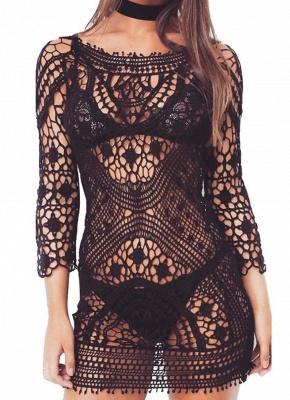 Crochet Lace Floral Bohemia Women Hot Bikini UK Cover Up_2