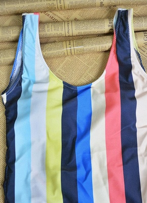 Women Striped Bathing Suit UK Sexy Backless High Cut Swimsuits UK Beach Playsuit_6