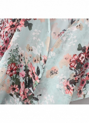 Summer Women Floral Chiffon Cardigan Sexy Open Front Half Sleeve Kimono_7