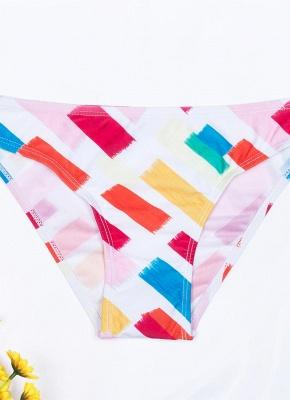 Womens Print Bikini Set Spaghetti Strap Push Up Padded Swimsuit Bathing Suit Swimsuit_5