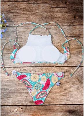 Women Fruit Printed Bikini Set UK Halter Bathing Suit UK Padded Tank Top Bathing Suit UK fr_3