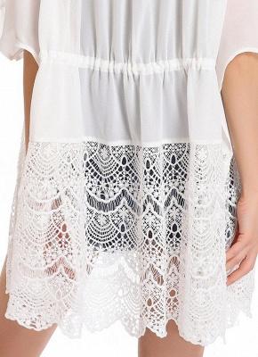 Lace Detailed Chiffon Cover Up Kimono_3