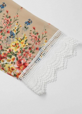 Retro Floral Lace Hem Bohemian Chiffon Kimono_9