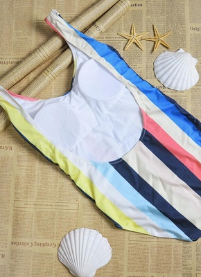 Women Striped Bathing Suit UK Sexy Backless High Cut Swimsuits UK Beach Playsuit_5