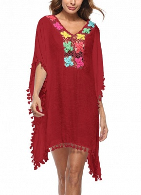 Crochet Lace Hollow Out Bohemian Loose Beach Wear Cover-up_2