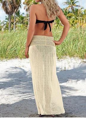 Hot Women Crochet Hollow out Meshy Beachwear Bohemian Bikini UK_4