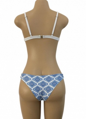 Geometric Print Wireless Swimsuits UK Bikini Set UK_7