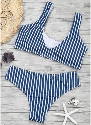 Womens Color Block Bikini Set Push Up Padded Swimsuit Bathing Suit Swimsuit_3
