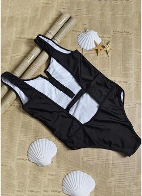 Sexy Open Back Sleeveless Zipper Padding Wireless One-Piece Bathing Suit_6