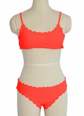 Solid Color Push-Up Padded Top Bottom Bikini Set_3