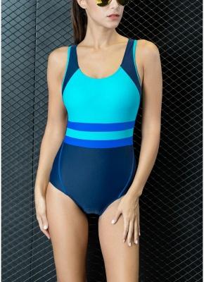 Women One-piece Bathing Suit UK Contrast Color Padded Monokini Swimsuits UK Bathing Suit UK_2