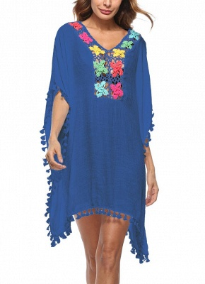 Crochet Lace Hollow Out Bohemian Loose Beach Wear Cover-up_4