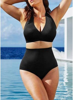 Big Halter High Waist Push Up Bikini UK_2