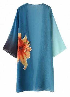 Modern Women Chiffon Kimono Cardigan Beachwear_4