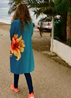 Modern Women Chiffon Kimono Cardigan Beachwear_1