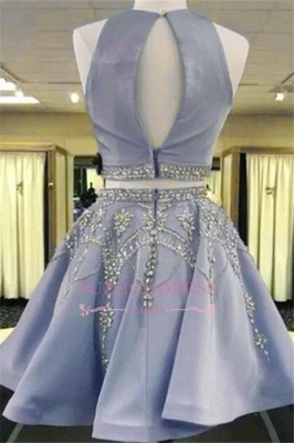 Crystal A-line Gorgeous Sleeveless Two-Pieces Short Homecoming Dress_3