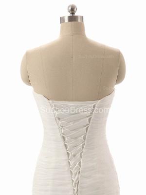 Elegant Simple White Sweetheart Bridal Gown  New Arrival Sexy Mermaid Long Wedding Dress_4