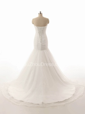 Elegant Simple White Sweetheart Bridal Gown  New Arrival Sexy Mermaid Long Wedding Dress_2