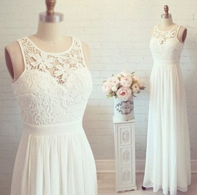 Lovely Lace Long Evening Gown Chiffon Floor Length  Prom Dresses_3