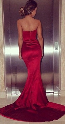 Sexy Sweetheart Red Mermaid Long Evening Dresses Formal Popular Fitted Zipper Plus Size Dresses for Women BA5382_2