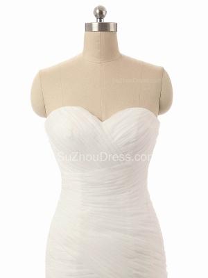 Elegant Simple White Sweetheart Bridal Gown  New Arrival Sexy Mermaid Long Wedding Dress_3