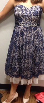 Cute Sweetheart  Lace Homecoming Dress Latest Custom Made Plus Size Party Gowns_2