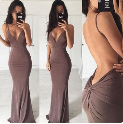 Sexy Backless Sheath Long Summer Dress New Spaghetti Strap  Party Gowns BA3549_3