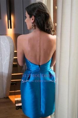 High Neck Short Party Dresses  Bow Sleeveless Mini Sexy Homecoming Dress_3