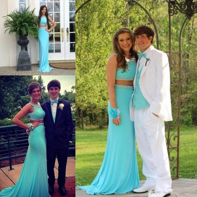 Gorgeous  Two Piece  Prom Dress with Beading New Arrival Formal Occasion Dresses AE0111_4