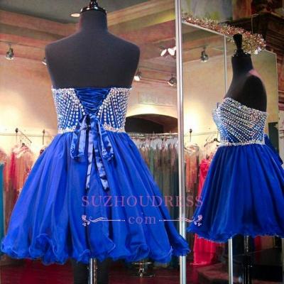 Lace-Up Crystal Sweetheart Blue Mini Homecoming Dresses BA3829_5