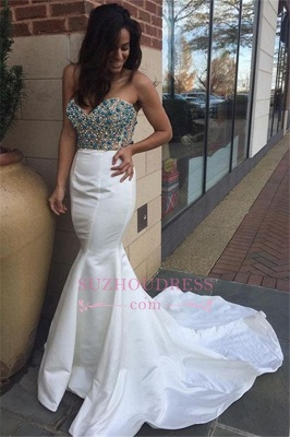 Crystal Sexy Mermaid Open-Back Sweetheart Prom Dress_2
