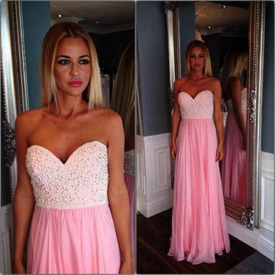 Sweetheart Beading Long Prom Dresses Latest Floor Length Evening Gowns_2