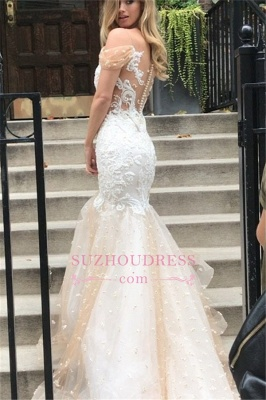 Mermaid Off-the-Shoulder Wedding Dress | Tulle Appliques Bridal Gowns WW0104_1