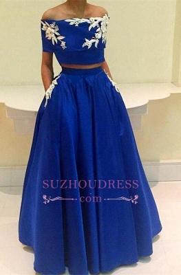 Royal-Blue A-Line Two-Pieces Appliques Off-the-Shoulder Prom Dress BA4634_3