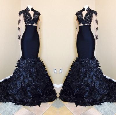 New Arrival Mermaid Long Sleeves Prom Dresses | Mermaid High Neck Evening Dresses BA8173_3