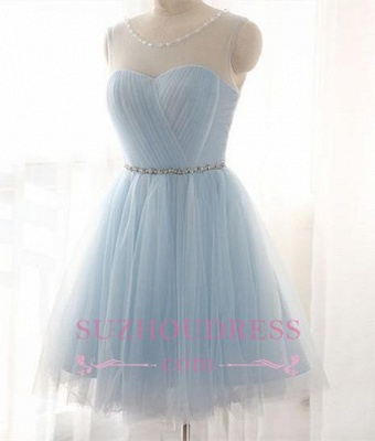 Newest   Party Dress A-line Beads Mini Baby Blue Homecoming Dress BA3644_3